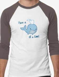 Whale of a Time [Text] Men's Baseball ¾ T-Shirt