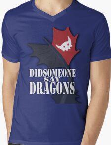 """""""Did Someone Say """"DRAGONS"""" HTTYD Fandom Tee Mens V-Neck T-Shirt"""