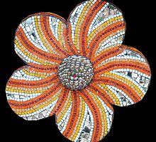DROUGHT TOLERANT orange  by Julee Latimer Mosaics