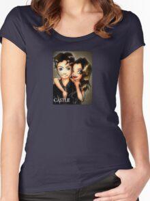castle promo fanart Women's Fitted Scoop T-Shirt