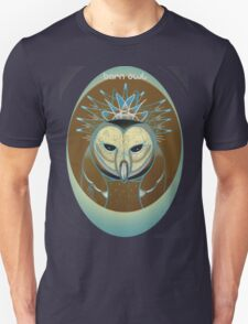barn owl shirt, pale blue icy owl Unisex T-Shirt