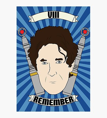 Doctor Who Portraits - Eighth Doctor - Remember (Night of the Doctor) Photographic Print