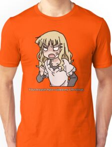 Your breasts have ruined my christmas! (Yuru yuri) Unisex T-Shirt