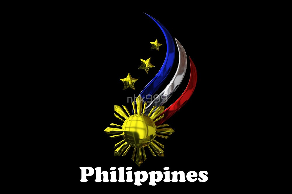 """Philippine Logo Design by nhk999 black"" by nhk999 