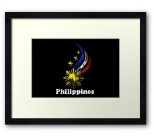 Philippine Logo Design by nhk999 black Framed Print