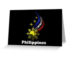 Philippine Logo Design by nhk999 black Greeting Card