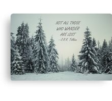 Not all those who wander 8 Canvas Print