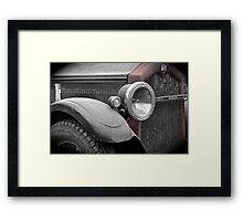 Back to the Buick Framed Print
