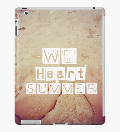 WeHeartSummer (Beachfeet) - iPad Case iPad Case/Skin