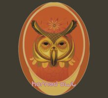 great horned owl shirt! by resonanteye
