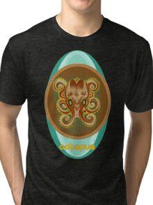 octopus shirt. Tri-blend T-Shirt