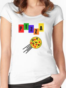 Who Ordered Pepperoni? Women's Fitted Scoop T-Shirt