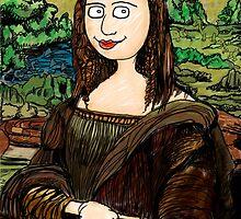 Refrigerator Door Series: Mona Lisa by ZugArt