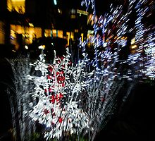 Happy Christmas Burst - Abstract Christmas Lights Series by Georgia Mizuleva