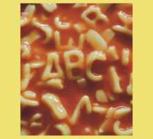 Pasta letters spell ABC Kids Tee