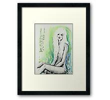 A Stylish Frame Framed Print