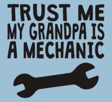 Trust Me My Grandpa Is A Mechanic Kids Tee
