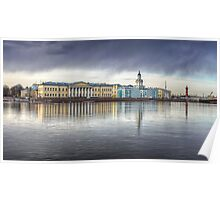 St Petersburg Museums across the Neva Poster
