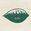 New York Skyline at Sunrise by Paula Belle Flores