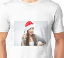 New Year Hat Girl Unisex T-Shirt