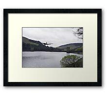 Dambusters Lancaster at the Derwent Dam Framed Print