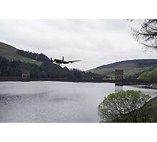 Dambusters Lancaster at the Derwent Dam Photographic Print