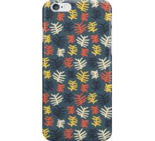 Abstract colorful floral leaf pattern design iPhone Case/Skin