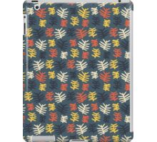 Abstract colorful floral leaf pattern design iPad Case/Skin