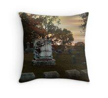 The Jewell Plot, Sleepy Hollow Cemetery Throw Pillow