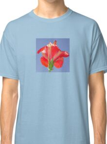 Side View of Scarlet Red Hibiscus In Bright Light Classic T-Shirt
