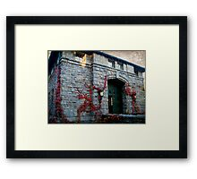 The Coach Barn and Museum at Kykuit, Sleepy Hollow NY Framed Print