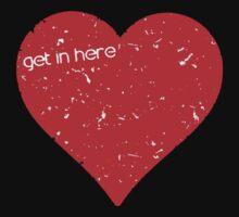 Get In Here Love Heart Baby Tee