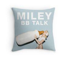 miley cyrus bb talk baby bottle Throw Pillow