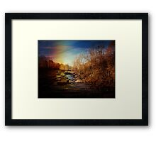 The Other Side-Old Falls NY Framed Print