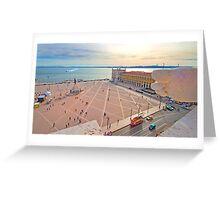 Praça do Comércio. vista do topo do Arco da Rua Augusta. Greeting Card