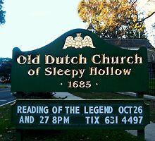 Old Dutch Reformed Church Sign, Sleepy Hollow NY by Jane Neill-Hancock