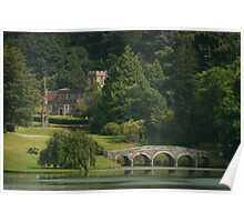 Stourhead landscaped gardens in summer Poster