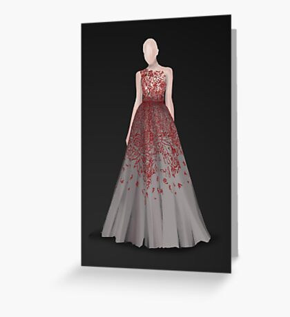 Lace Dress Greeting Card
