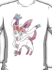 Sylveon In Flower Crown T-Shirt