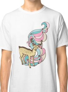 Color print with a deer and patterns Classic T-Shirt