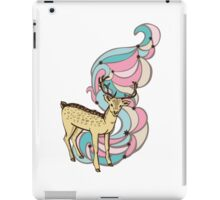 Color print with a deer and patterns iPad Case/Skin