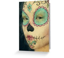 Day of The Dead - Sugar Skull Face Paint Portrait Greeting Card