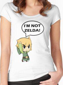 I'm Not Zelda Women's Fitted Scoop T-Shirt
