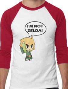 I'm Not Zelda Men's Baseball ¾ T-Shirt