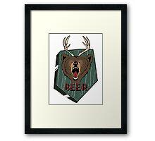 BEER* Framed Print