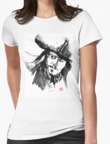 jack sparrow Womens Fitted T-Shirt