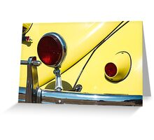 Yellow VW Beetle and Red Lights Greeting Card