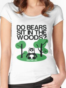 Do bears sit in the woods? Women's Fitted Scoop T-Shirt