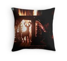 Chestnuts roasting by an open fire Throw Pillow