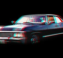 Supernatural Chevrolet Impala 1967 3D Effect by petra1999